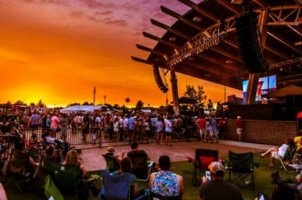 A sunset concert at the Lady A Pavilion.